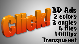 3D Advertising Graphic – Click