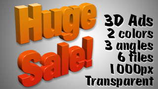 3D Advertising Graphic – Huge Sale