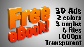 3D Advertising Graphic – Free Ebook