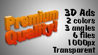 3D Advertising Graphic – Premium Quality