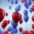 Red and Blue Balloons Flying HD Video Background 1188