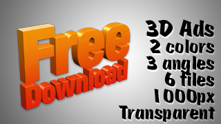 3D Advertising Graphic – Free Download