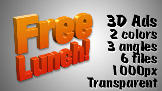 3D Advertising Graphic – Free Lunch