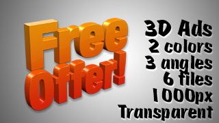 3D Advertising Graphic – Free Offer