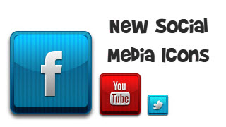 Social Media Icons / Stamps 02