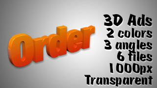 3D Advertising Graphic – Order