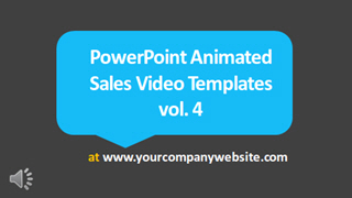 PowerPoint Animated Sales Video Template vol. 4