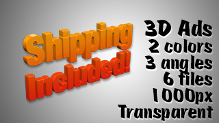 3D Advertising Graphic – Shipping Included