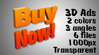3D Advertising Graphic – Buy Now