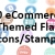 Ecommerce Themed Flat Icons/Stamps