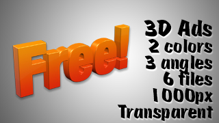 3D Advertising Graphic – Free