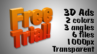 3D Advertising Graphic – Free Trial