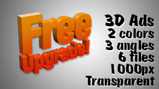 3D Advertising Graphic – Free Upgrade