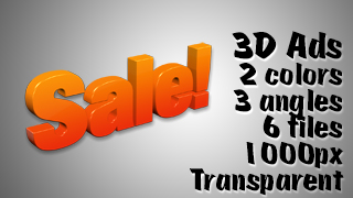 3D Advertising Graphic – Sale 2