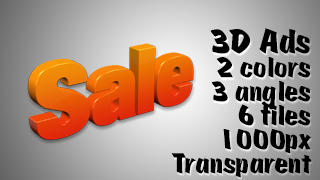 3D Advertising Graphic – Sale