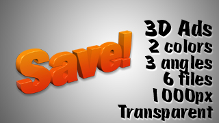 3D Advertising Graphic – Save 2