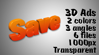 3D Advertising Graphic – Save