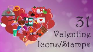 Valentine Icons/Stamps