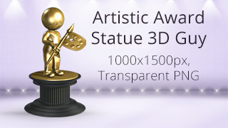 Artistic Award Statue 3D Guy