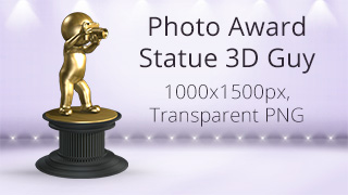 Photo Award Statue 3D Guy