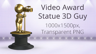 Video Award Statue 3D Guy