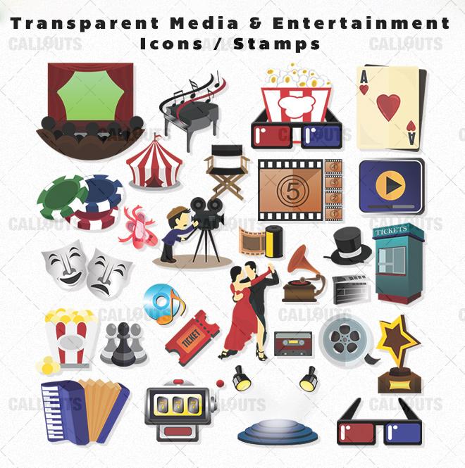 TranspMediaEnterainIconsOverview