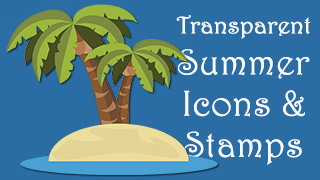 Summer Icons Stamps Transparent