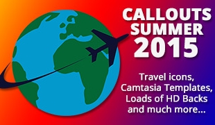 Summer 2015, Travel Icons, Camtasia Swoops and Much More