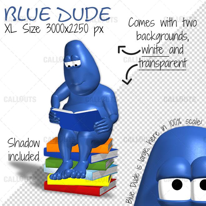 10016-BlueDude-readsbook-Overview