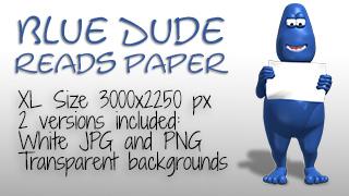 10017-BlueDudereadspaperfeatured