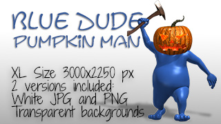 Blue Dude Pumpkin Man