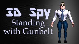 3D Spy Standing with Gunbelt