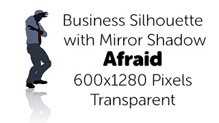 Afraid Business Silhouette Mirror Transparent