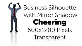 Cheering Business Silhouette Mirror Transparent