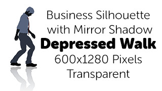 Depressed Walk Business Silhouette Mirror Transparent