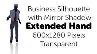 Extend Handshake Business Silhouette Mirror Transparent