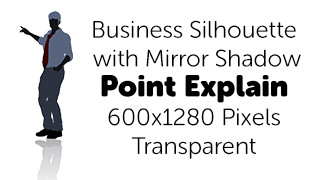 Explain Point Business Silhouette Mirror Transparent