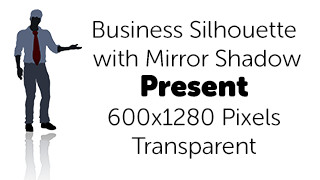 Present Business Silhouette Mirror Transparent