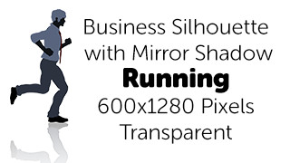 Running Business Silhouette Mirror Transparent