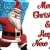 3D Santa with Christmas Gift Merry Christmas Greeting