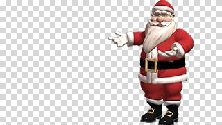 3D Santa Presents Transparent Background