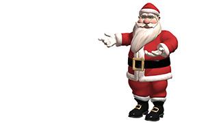 3D Santa Presents White Background