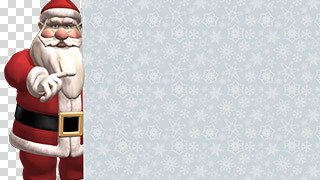 3D Santa with Sign Transparent Background