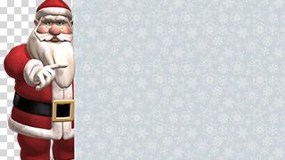 3D Santa with Sign Transparent Background