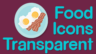 Food Icons Stamps Transparent
