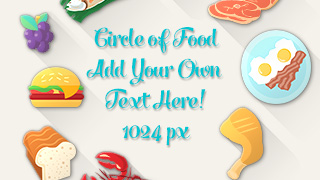 Food Circle Illustration Concept