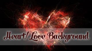 Fire Heart Background