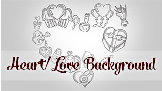 Heart Doodle Background