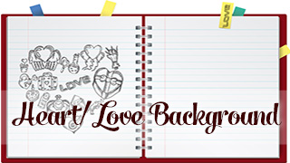 Heart Doodle Notebook Background