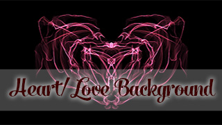Light Painted Heart Background